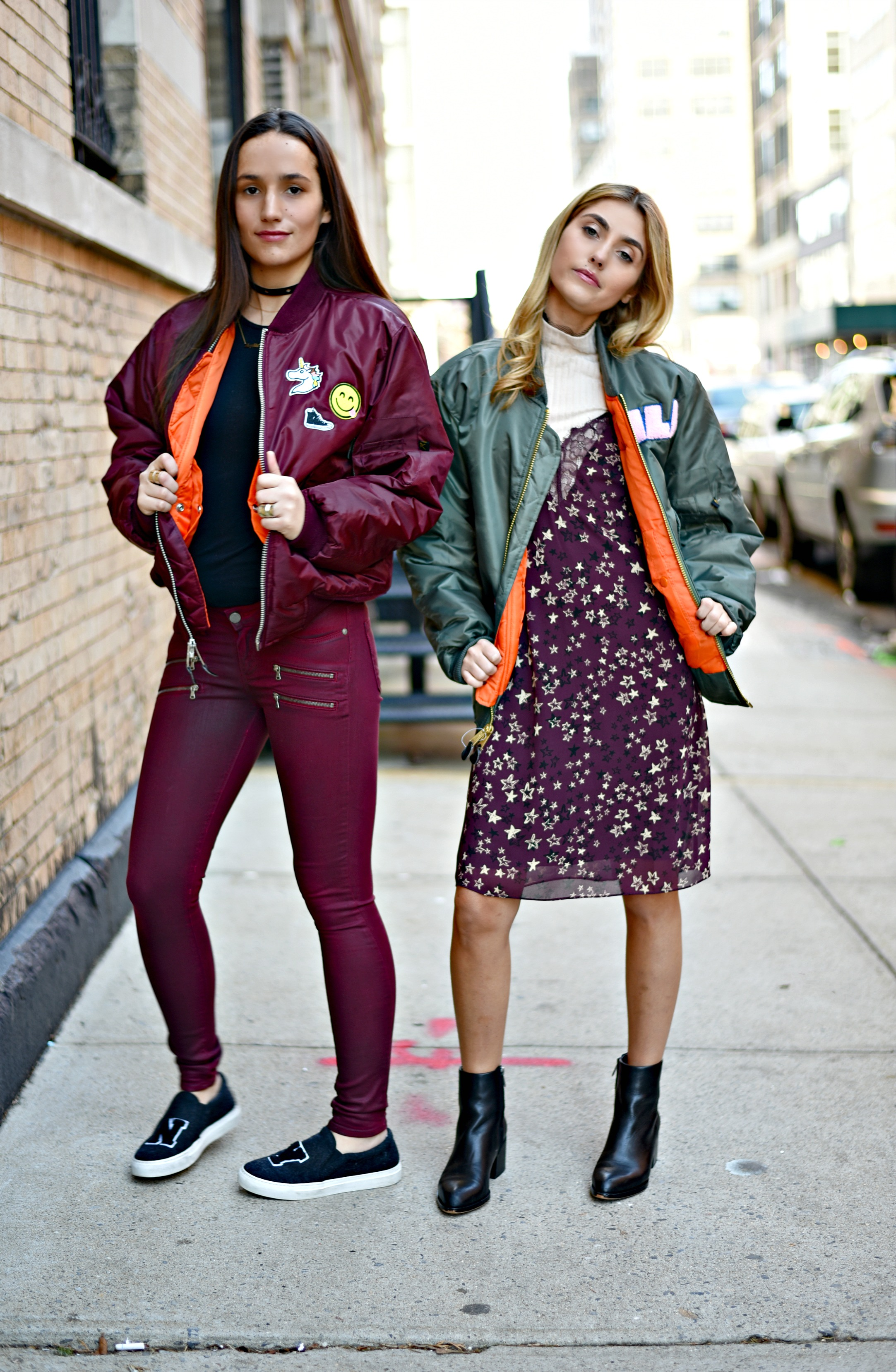 SOPHIE & CHARLOTTE BICKLEY YIN 2MY YANG SISTER FASHION BLOGGERS NYC UNEMPLOYED DENIM POST