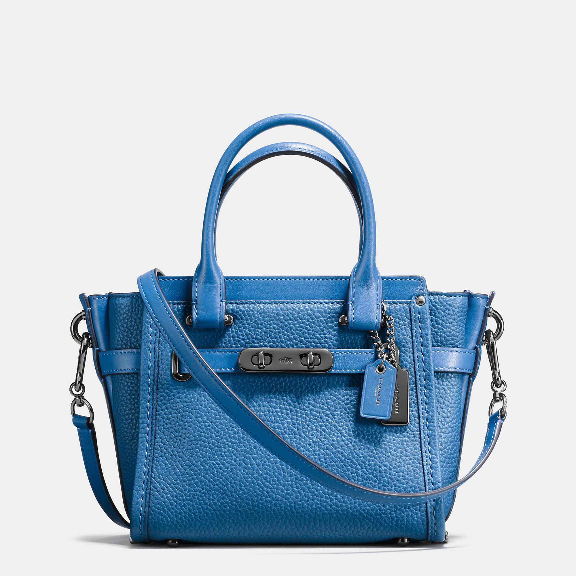 COACH SWAGGER 21 BLUE BAG