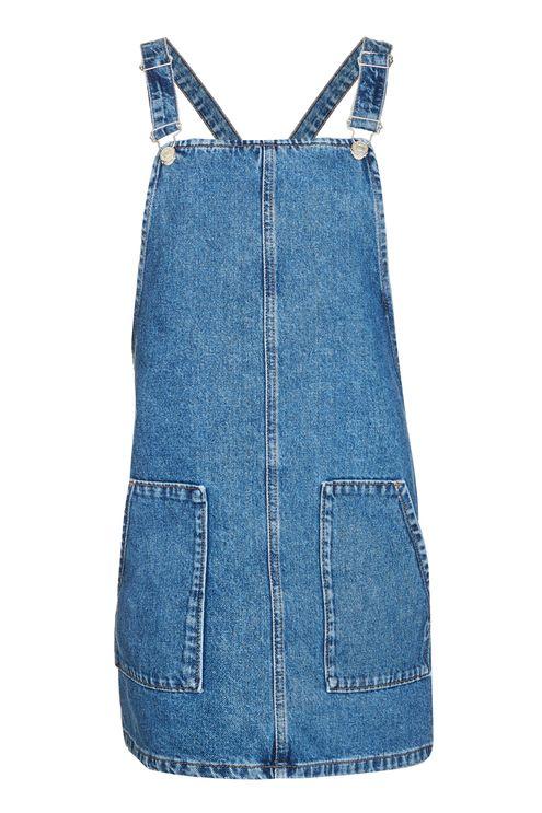 TOPSHOP TRUE DENIM PINAFORE DRESS