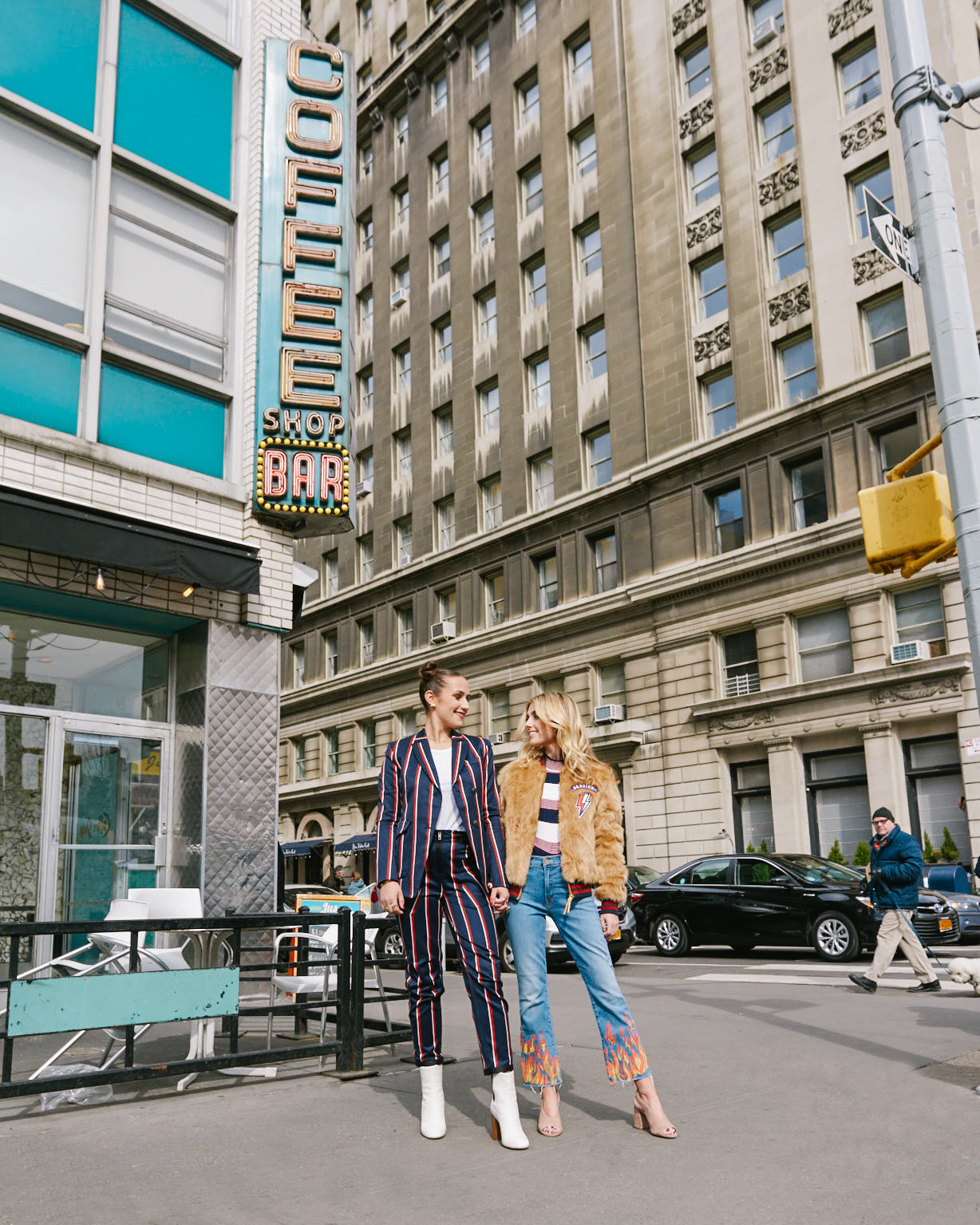 SOPHIE AND CHARLOTTE BICKLEY YIN 2MY YANG SISTER FASHION BLOGGERS NYC MODERN AMERICANA TREND FOR SHOPBOP POST