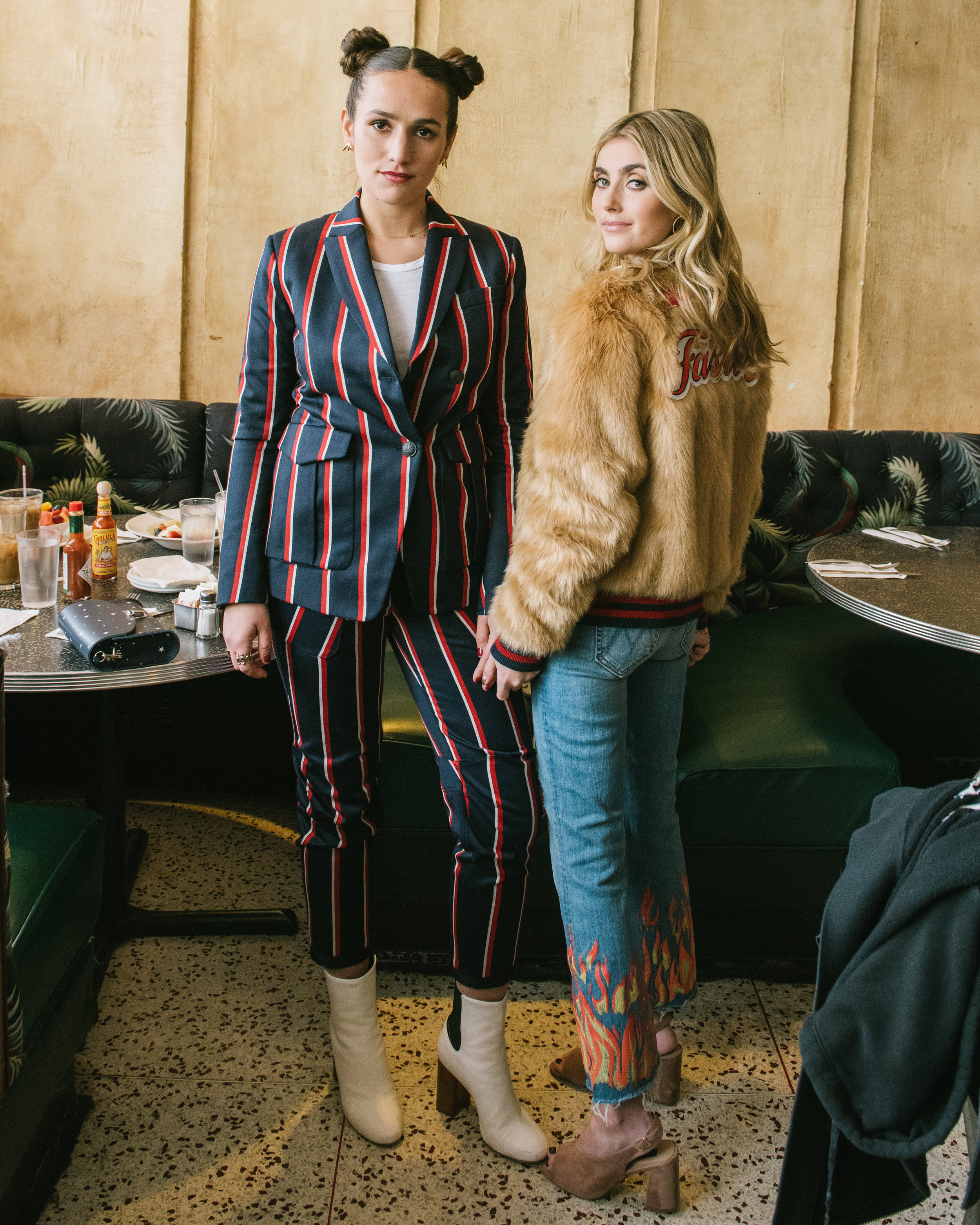 SOPHIE AND CHARLOTTE BICKLEY  FASHION BLOGGER SISTERS NYC MODERN AMERICANA TREND FOR SHOPBOP POST