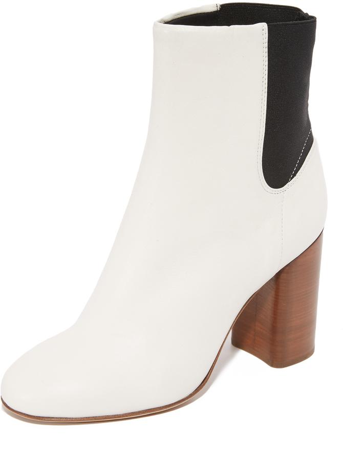 RAG & BONE 'AGNES' WHITE BOOTS