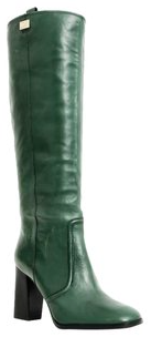 DVF GREEN LEATHER BOOTS