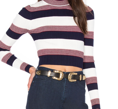 AGAIN 'WIONNA' CROPPED SWEATER