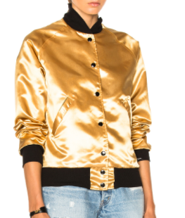CATHERINE FULMER GOLD 'BOWIE' BOMBER JACKET