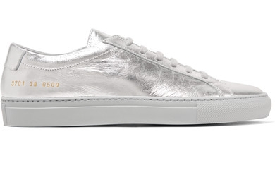 COMMON PROJECTS SILVER SNEAKERS
