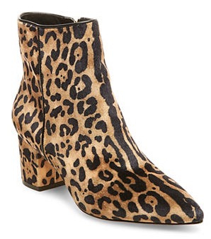 STEVEN BY STEVE MADDEN 'BOLLIE' LEOPARD PRINT ANKLE BOOTS