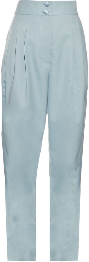 MARC JACOBS LIGHT BLUE PLEATED TUXEDO TROUSERS