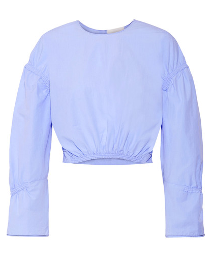 3.1 PHILLIP LIM GATHERED COTTON POPLIN TOP