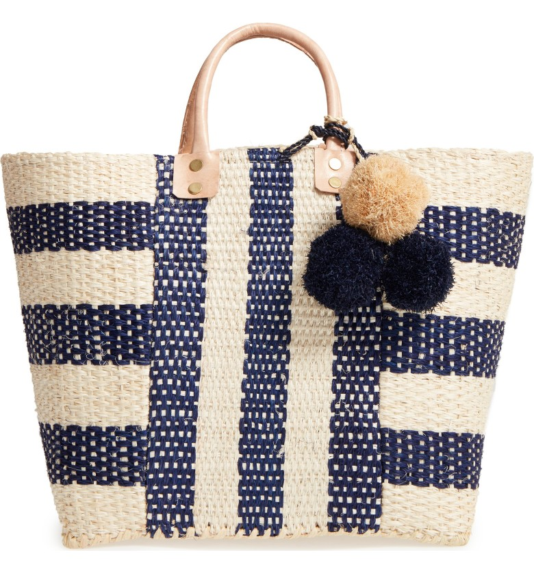 MARY SOL 'COLLINS' WOVEN TOTE