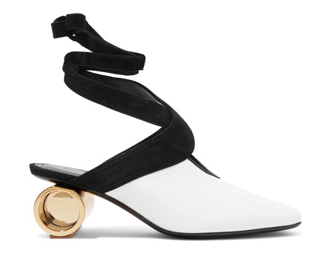 J.W.ANDERSON  SUEDE TRIMMED LEATHER PUMPS