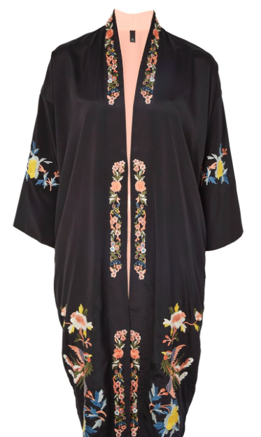 TOP SHOP 'REVERSIBLE' EMBROIDERED KIMONO