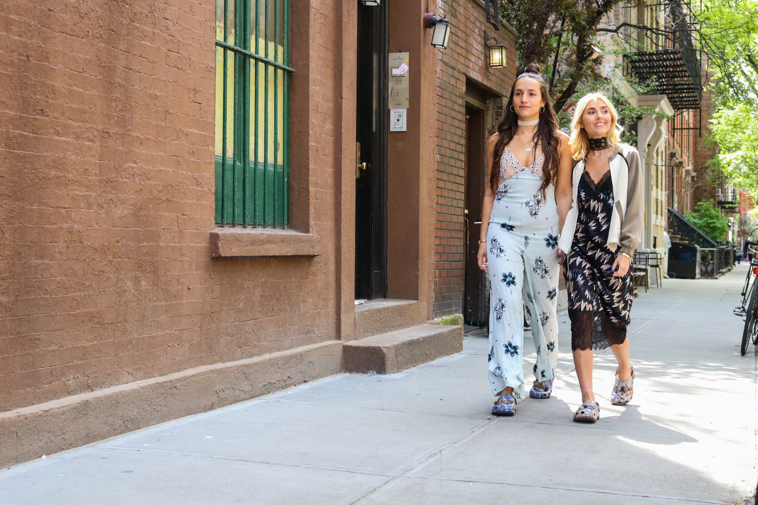 SOPHIE AND CHARLOTTE BICKLEY SISTER FASHION BLOGGERS YIN 2MY YANG NYC CROCS POST
