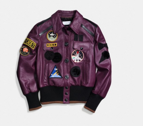 COACH PATCHED JACKET