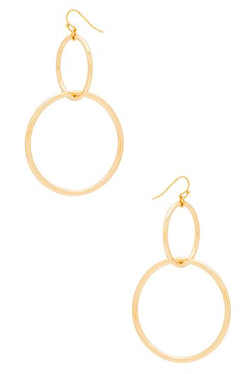 Vanessa Mooney The Interlocking Hoop Earrings