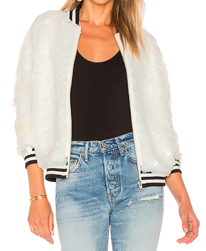 Lovers + Friends x Revolve 'The Going Out' Sequin Bomber