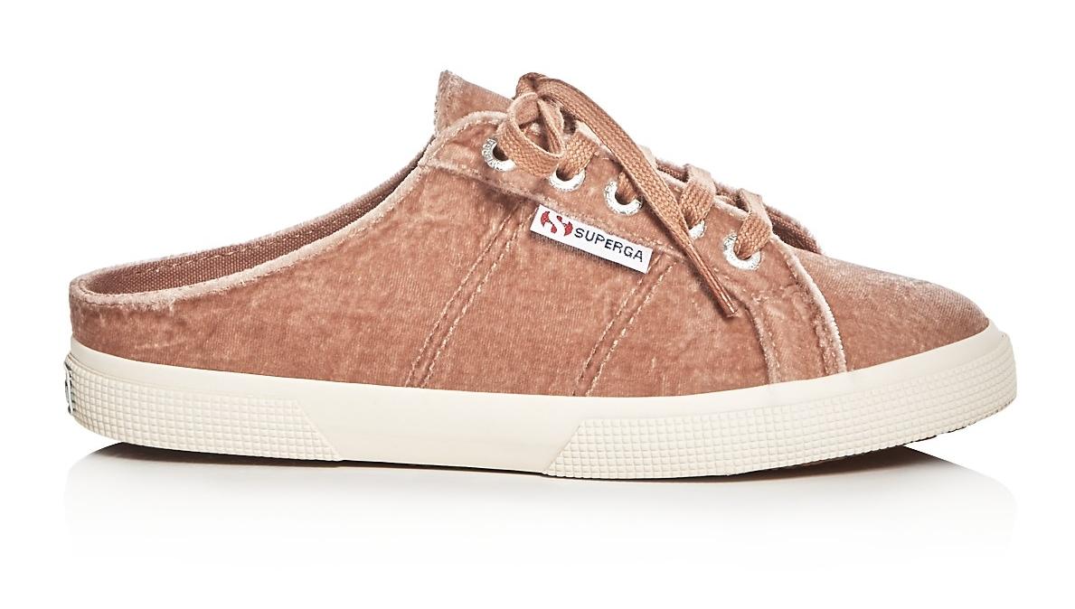 Superga Velvet Sneaker Mules