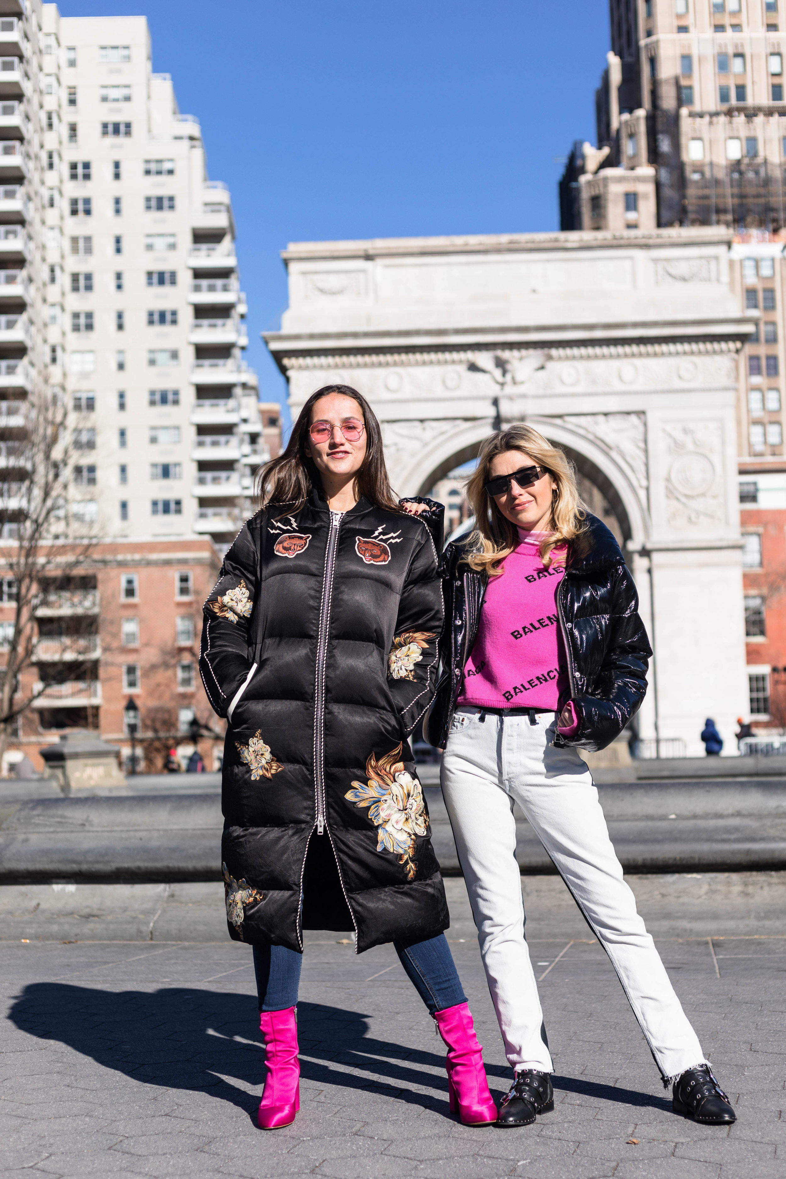 YIN 2MY YANG SOPHIE & CHARLOTTE BICKLEY BLOGGER SISTERS NYC PUFFER JACKET POST JANUARY 2018.jpg