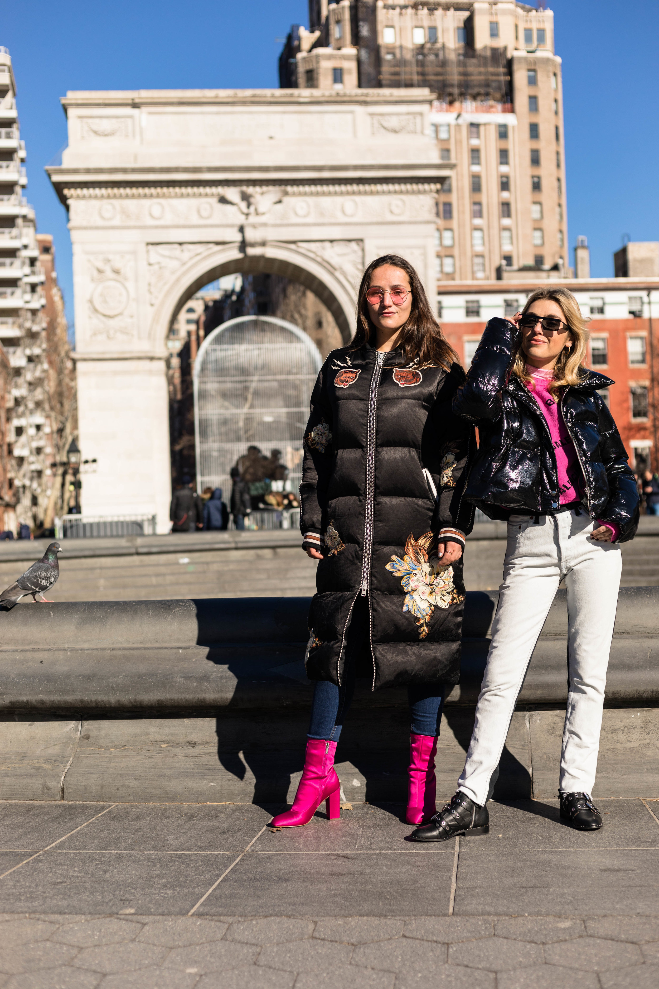 YIN 2MY YANG SOPHIE & CHARLOTTE BICKLEY BLOGGER SISTERS NYC PUFFER JACKET POST JANUARY 2018 5.jpg
