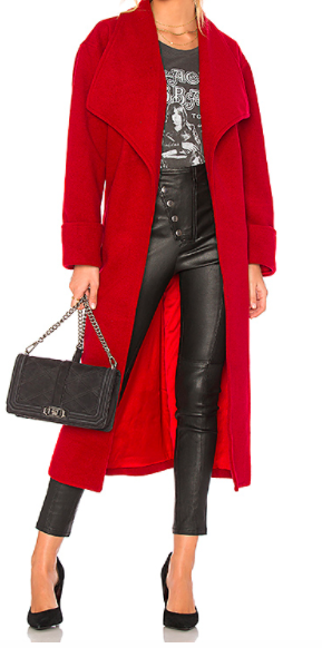 LOVERS  + FRIENDS  x REVOLVE RED 'MADDIE' LONG COAT
