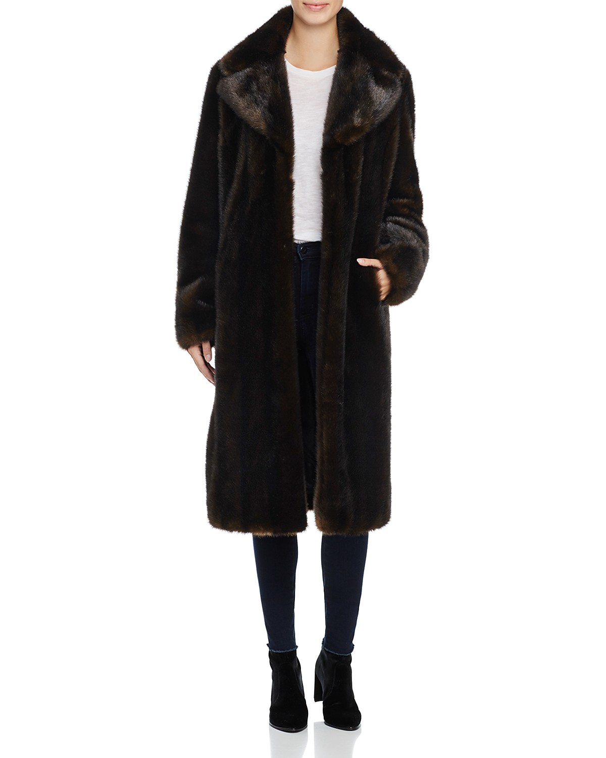 KENDALL AND KYLIE FAUX MINK FUR COAT