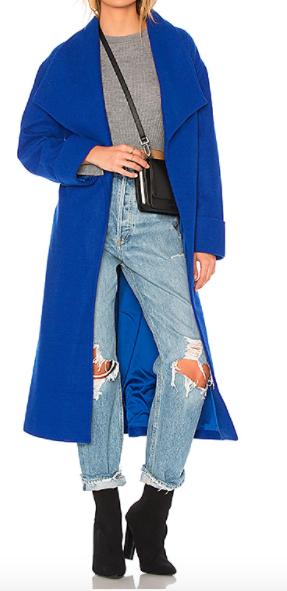 LOVERS  + FRIENDS  x REVOLVE BLUE 'MADDIE' LONG COAT
