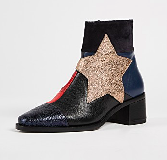 HILFIGER PATCHWORK STAR ANKLE BOOTIES