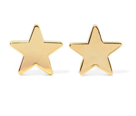 JENNIFER MEYER STAR 18-KARAT GOLD EARINGS