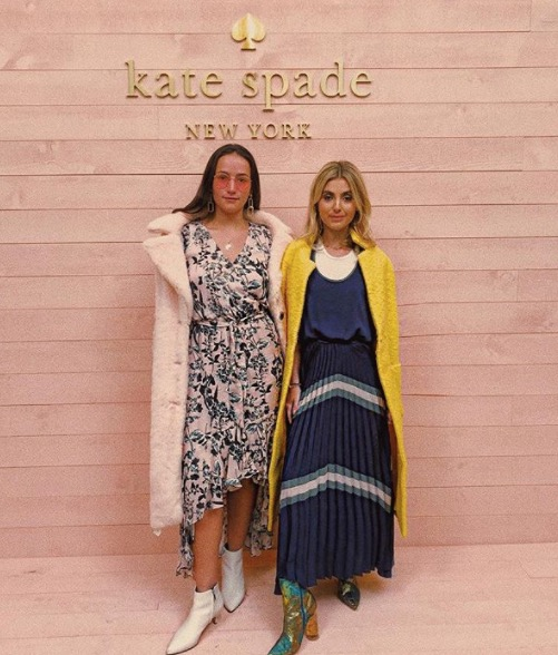February 9, 2018- Entering the Kate Spade NYFW presentation, dressed in Parker NYC.