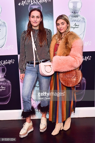 At the AMO Ferragamo Fragrance launch party, sporting Ferragamo bags. See below for similar bags & to shop the AMO Ferragamo fragrance!!!
