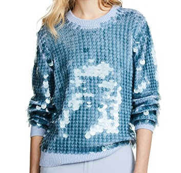 MARC BY MARC JACOBS SEQUIN CREW NECK SWEATER