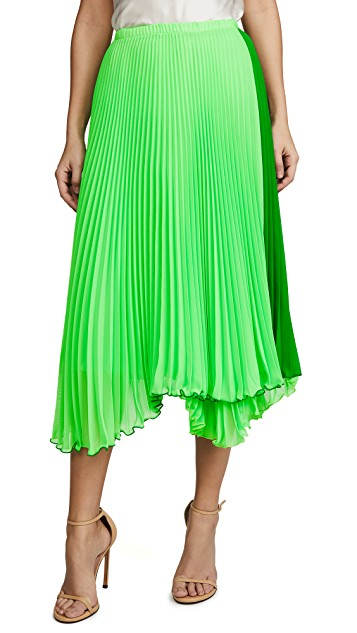 LOYD/FORD GREEN PLEATED SKIRT