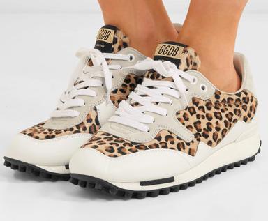 Golden Goose Starland Leopard Print Sneakers