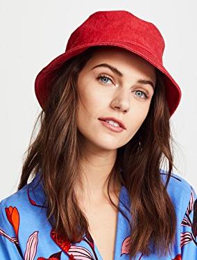 RAG & BONE RED BUCKET HAT