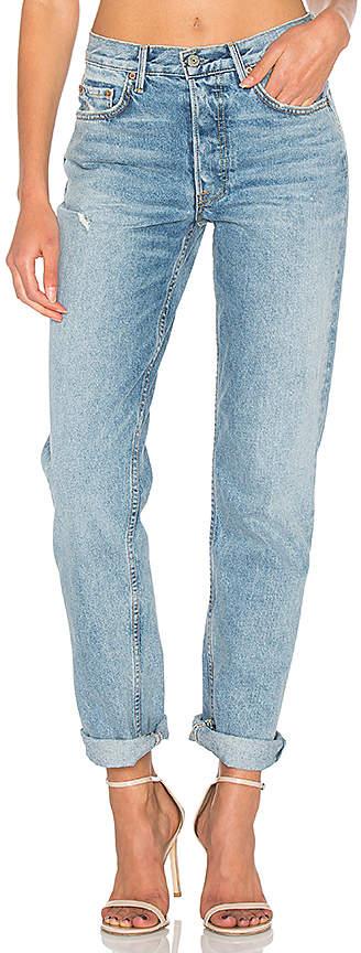Grlfrnd Denim 'Helena' High Rise Straight Jeans