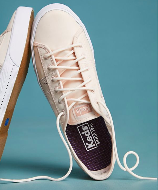 Keds Pink Mesh Platform Sneakers