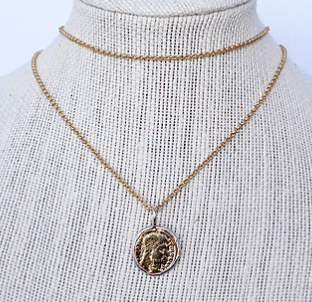 Boho Beads Rix Coin Necklace