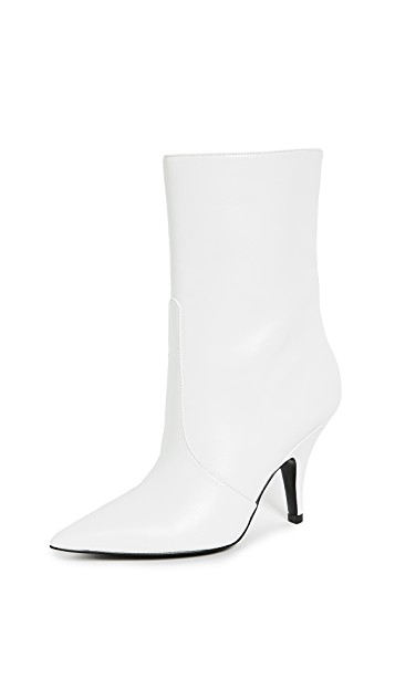 Kendall + Kylie White Pointed Toe Booties