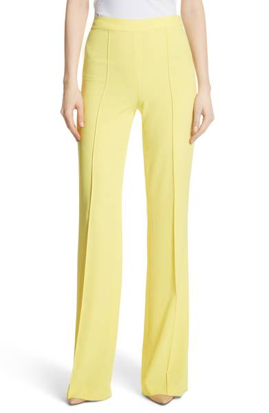 Alice + Olivia Yellow High Waisted Flare Pants