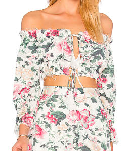 Majorelle Sunday Floral Top