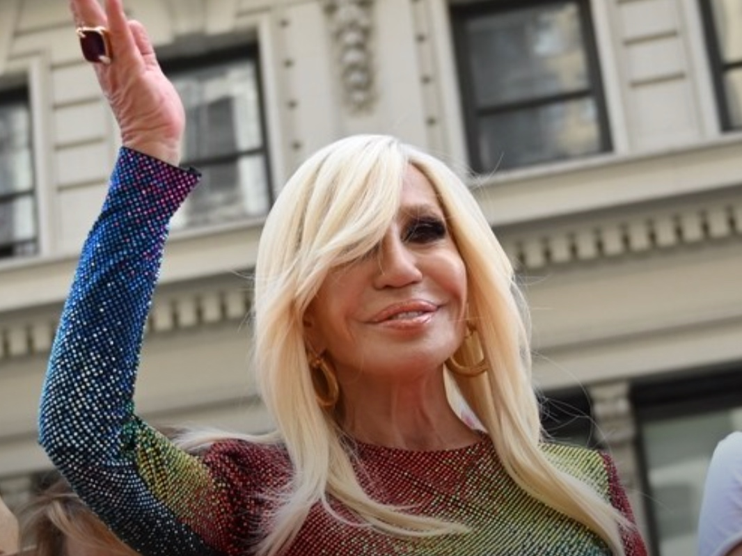 Donatella Versace Channels Lady Gaga at New York Pride -