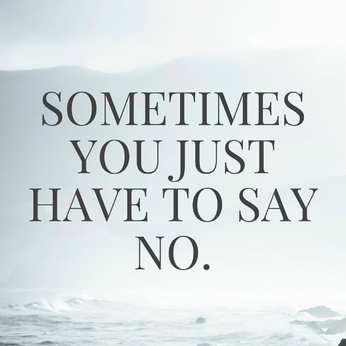 learn to say no hub101