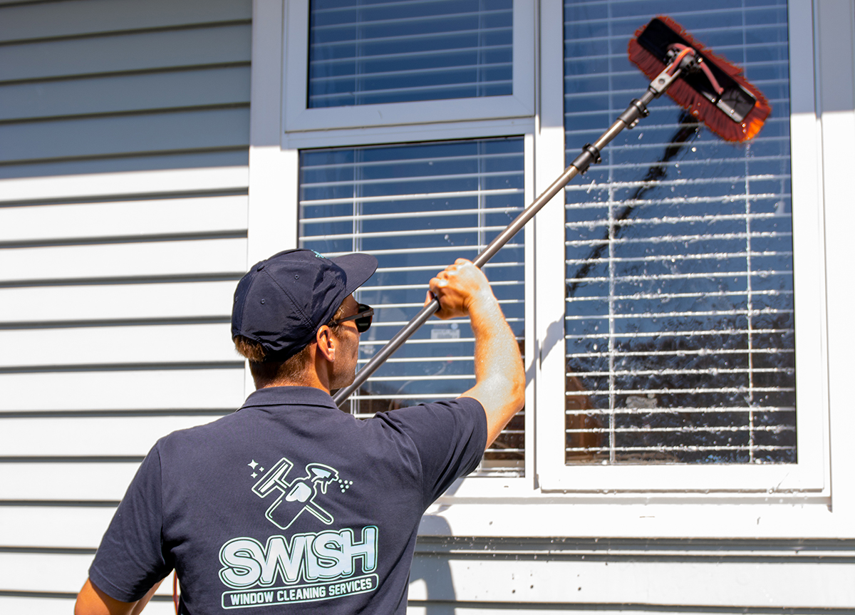 - Our standard residential window clean includes a thorough exterior frame clean and a wipe of all interior frames, we also offer a premium interior frame and track clean as a small extra charge. Our experience is vast and varied with over 500 residential customers between Omokoroa and Te Puke.