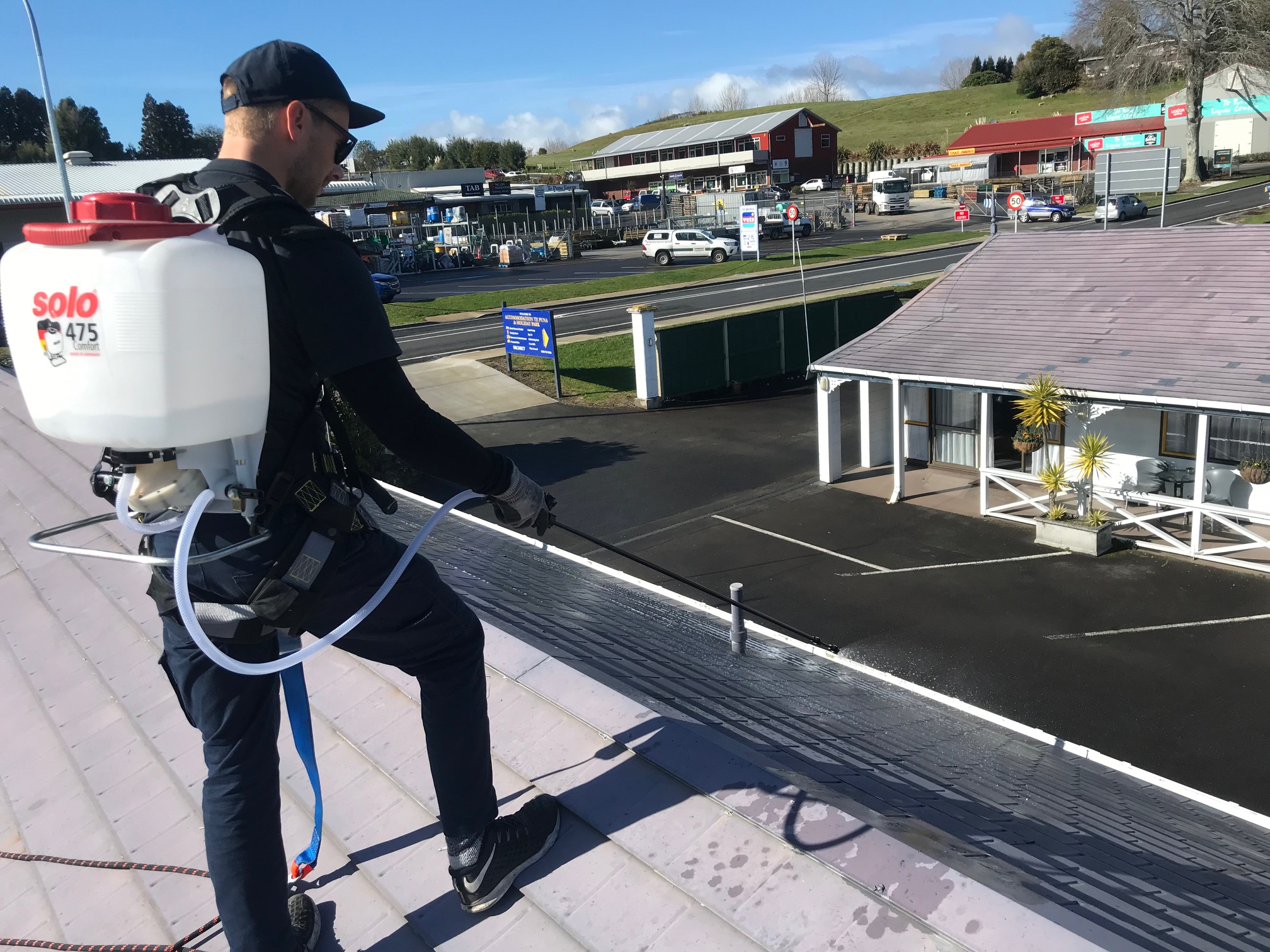 The Complete Moss & Mould Treatment - Within our extensive range of cleaning solutions, we offer comprehensive roof servicing for moss and mould treatment in Mount Maunganui and neighbouring suburbs. Our complete service utilises professional grade spraying techniques, which focus on eliminating moss and lichen, along with harmful spores, to prevent them from returning. Health and safety is important to us, so our products have been developed with the non-toxic active ingredient Benzalkonium chloride, which provides a safer alternative and biodegradable solution for outdoor cleaning services.
