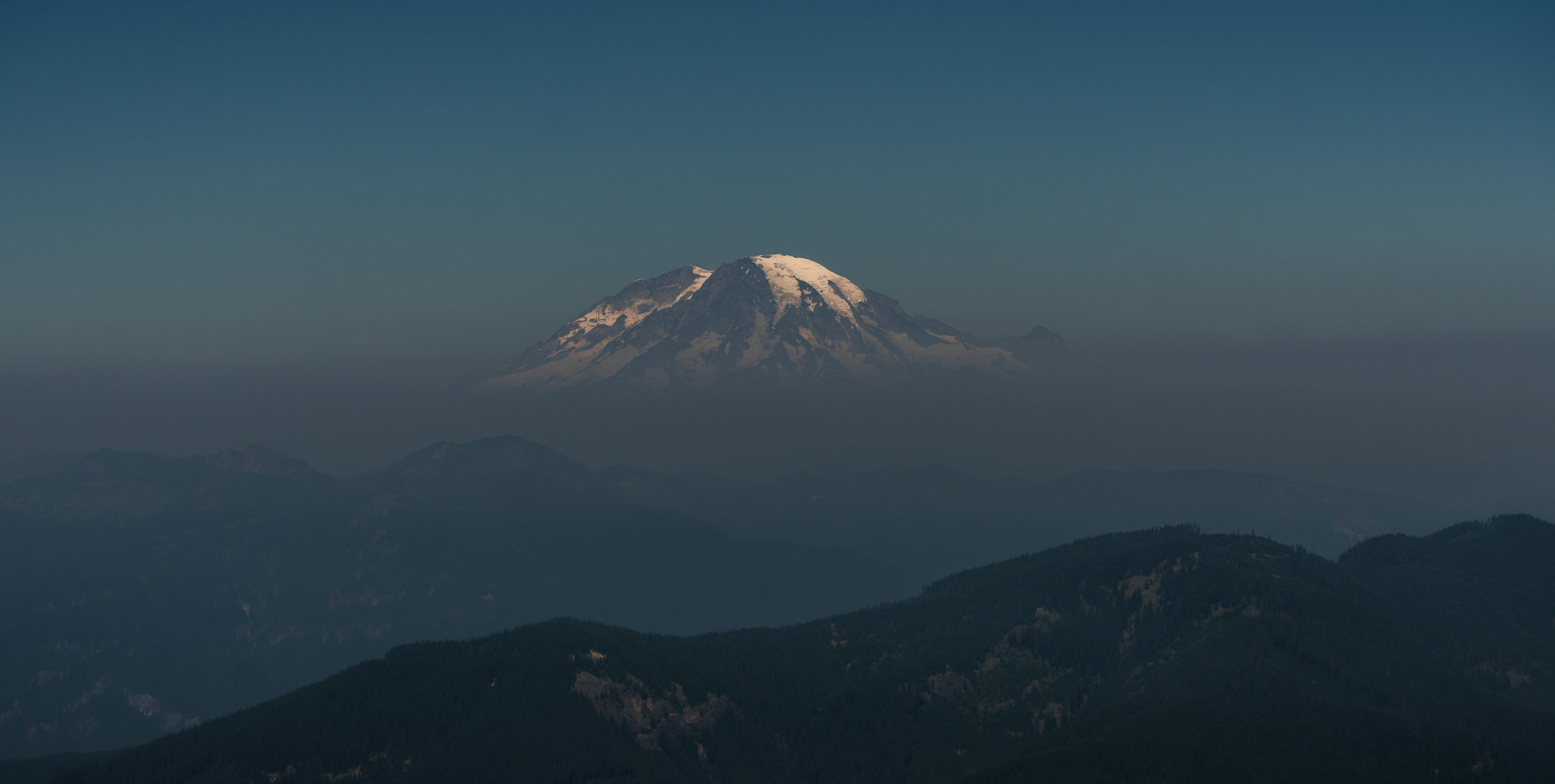 Mt. Rainier, as seen from Burley Mountain.
