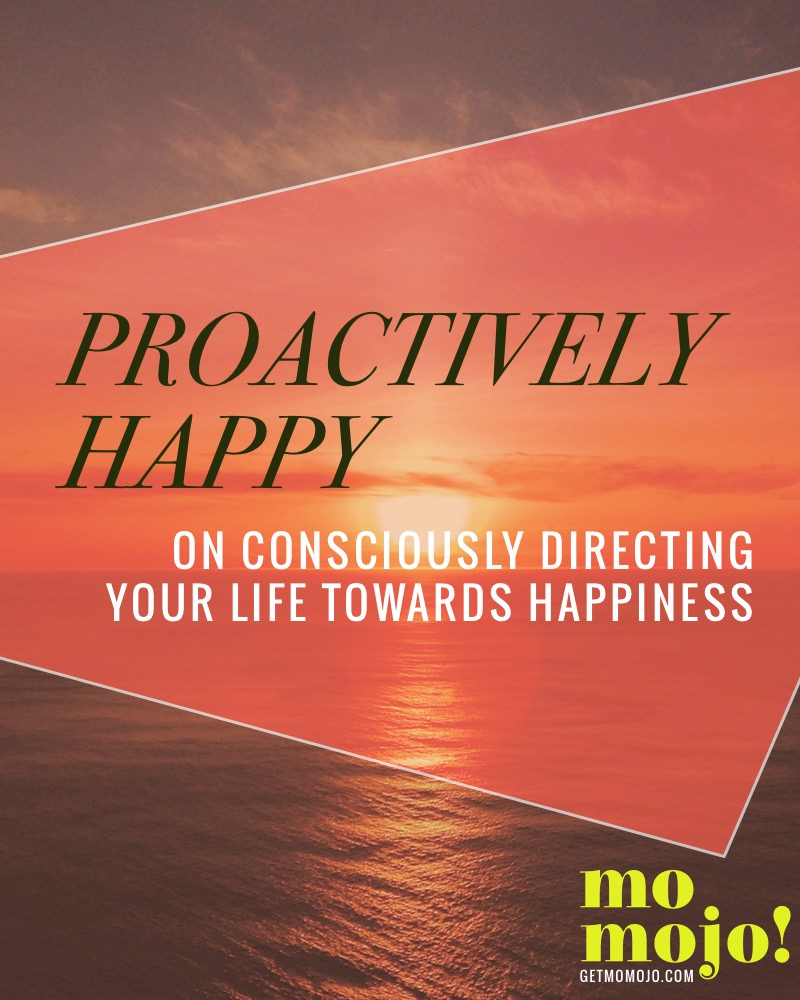 The proactive way to happy: Encouragement on how to consciously steer your life towards what you really want, rather than getting caught up and carried by the waves of cirsumstance.