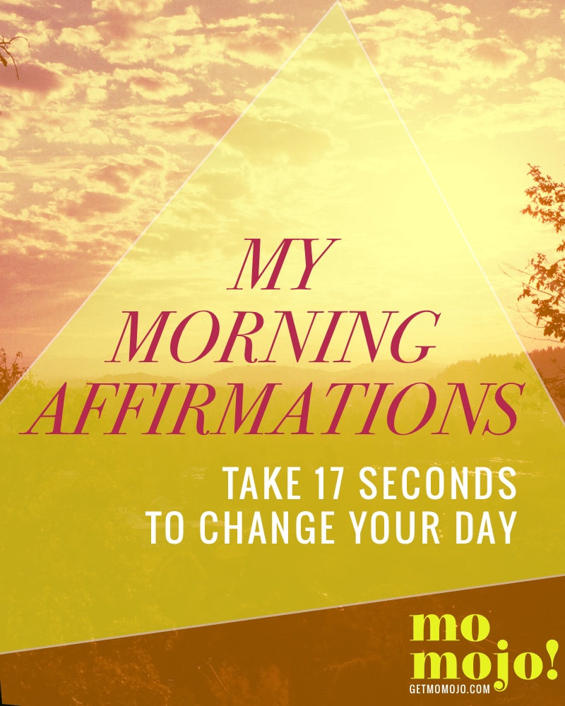 Just 17 seconds of sustained thinking starts the momentum going in that direction, so if you want to swing your day into a good direction, it helps to start from the get-go when you first wake up, and affirmations are a great way to do that! I'm sharing my personal morning affirmations which are a mix of gratitude, affirming and prayer, for you to use to start your day focused on the GOOD, and to come back to whenever you need them. Read more on the blog ->