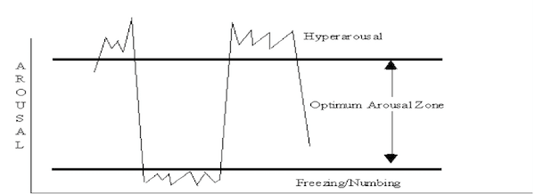 Traumatology diagram with arousal zones