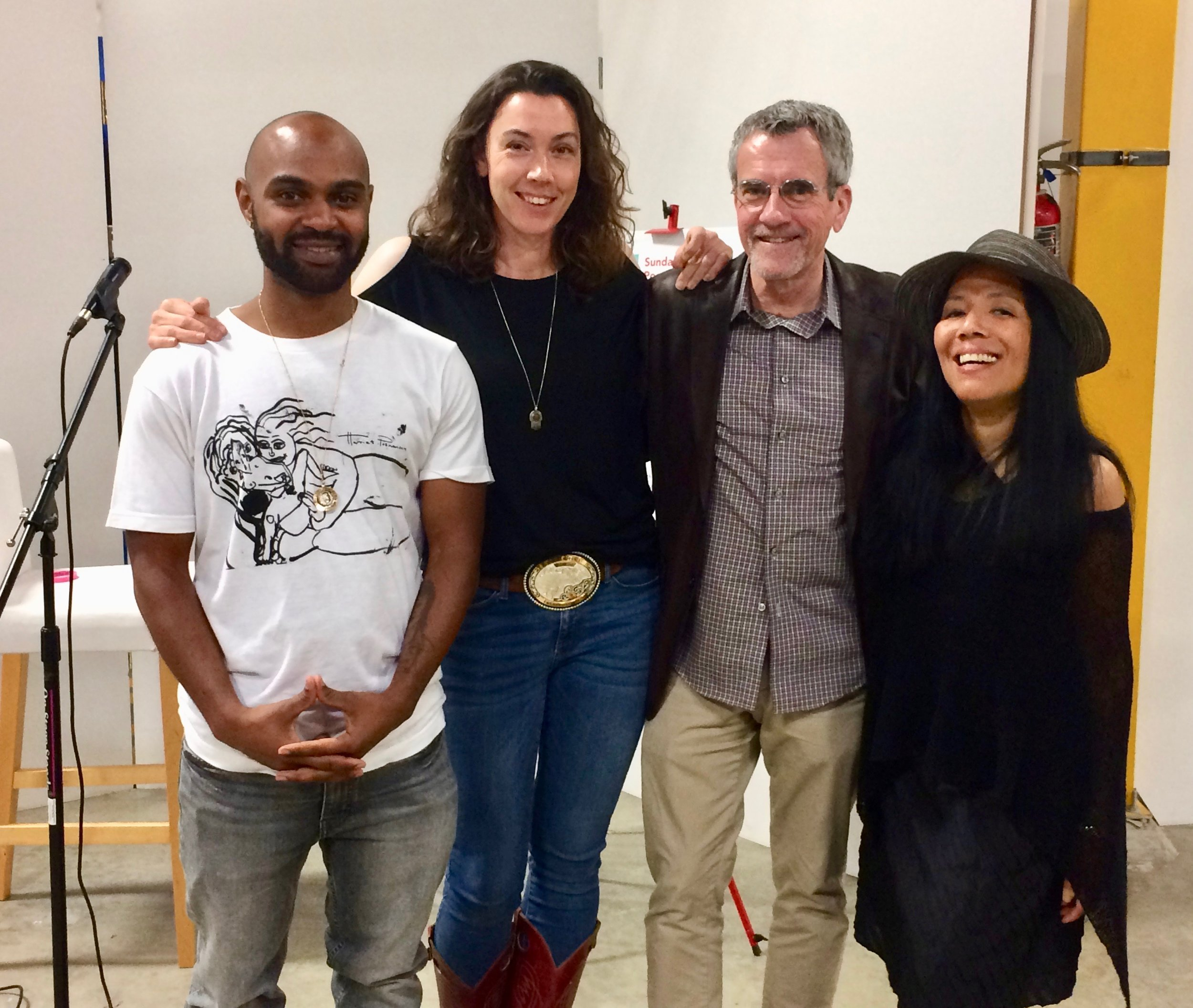 Reading with Rohan DaCosta, Sarah Kobrinsky, and Terry Lucas in Emeryville, 2018.