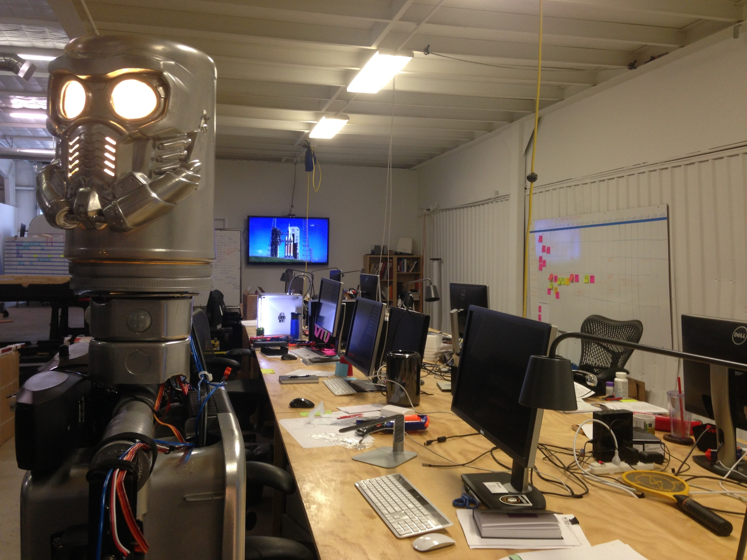 Tony (AX01) finished and functioning at Reaction's second office before NASA's SLS initial flight.